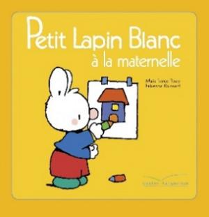 Petit Lapin blanc à la maternelle